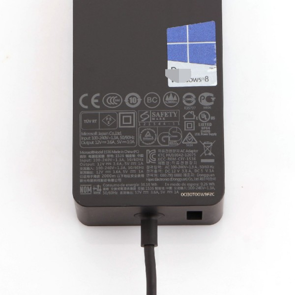 Microsoft Surface 1536 12V 3.6A 43W AC Adapter Charger