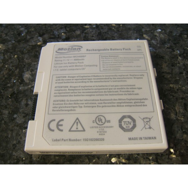 MC5450BP Replacement Motion Computing Battery for F5 F5v F5T F5TE tablets