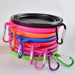 Collapsible Dog Bowl Pet Dog Portable Silicone Collapsible Travel Feeding Bowl Water Dish Feeder