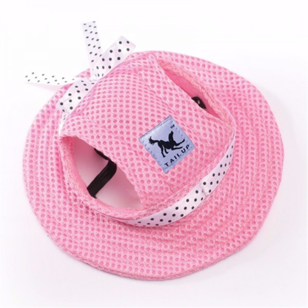 Tailup Ear Hole Summer Baseball Cap Sun Hat / Princess & handsome Beach Hat For Small Pet Dogs Summer Cool Dog Pet Puppy Dog Hat