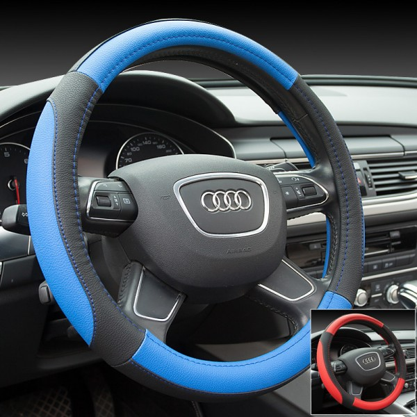 Microfiber Leather car steering wheel cover automobiles interior accessories fit 90% cars car styling decoration auto grip covers