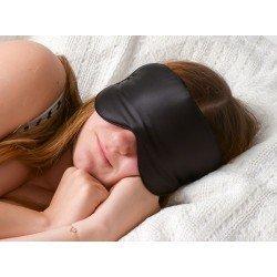 Top Quality 100% Natural Silk Sleep Mask Eye Shade Black Mask Bandage on Eyes for Sleeping