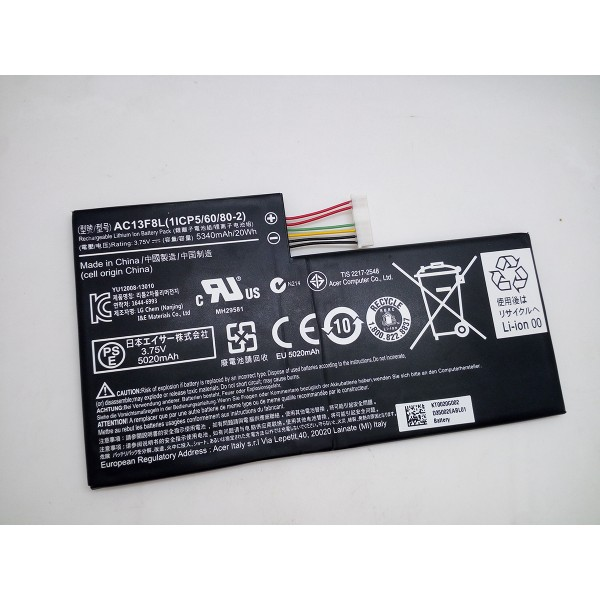 Replacement Acer Iconia Tab A1 A1-810 AC13F3L AC13F8L 20Wh battery