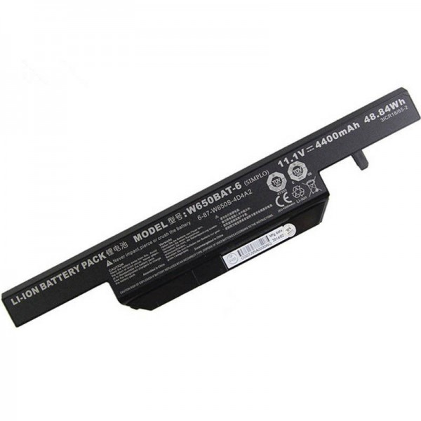 W650BAT-6 48.84Wh Replacement Battery for Clevo W650SJ HASEE K650D K610C K570N K590C