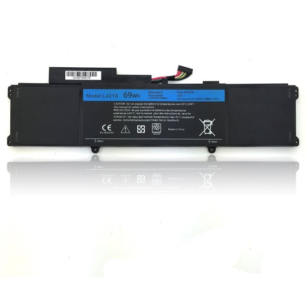 Replacement 4RXFK  Battery For Dell XPS 14 XPS 14-L421x Series Ultrabook