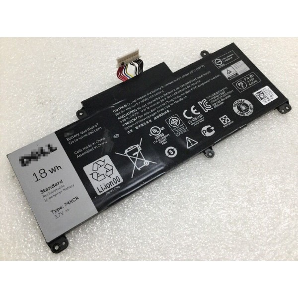 18Wh 3.7V X1M2Y VXGP6 74XCR Replacement Battery for Dell Venue 8 Pro 5830 T01D Tablet
