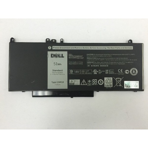 Replacement OEM 8V5GX G5M10 51Wh Battery for Dell Latitude E5450 E5550