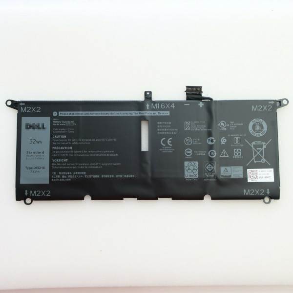 Dell XPS 13 9370 DXGH8 G8VCF 7.6V 52Wh 4 Cell Laptop Battery