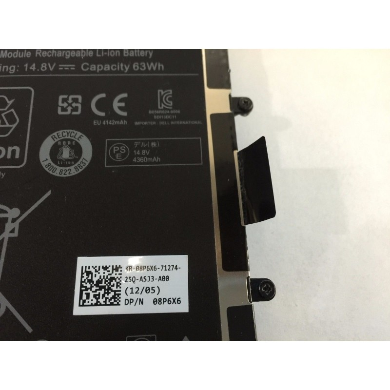 Replacement T7YJR 14 8V 63WH Battery For Dell Alienware M11x