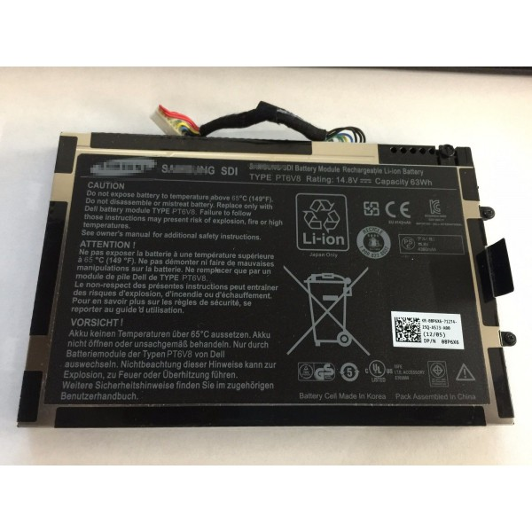 PT6V8 63Wh Replacement Battery For Dell Alienware M11X M14X R1 R2 R3