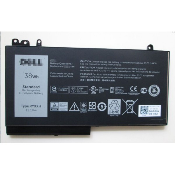 RYXXH 11.1V 38Wh Battery for DELL Latitude 12 5000 E5250 Series Laptop