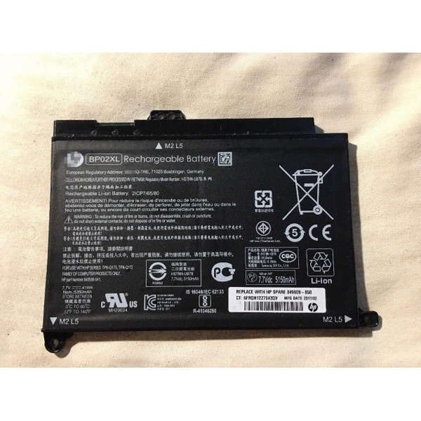 41Wh Replacement HP Pavilion PC 15 AU010WM BP02XL HSTNN-LB7H HSTNN-UB7B Battery