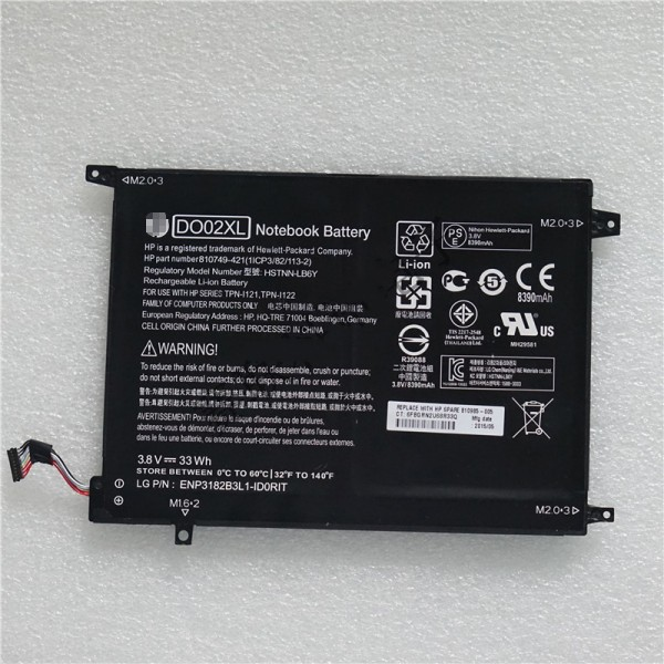 DO02XL 33Wh Replacement Battery For HP Pavilion X2 10 10-n20ns 10-j024tu 10-j013tu