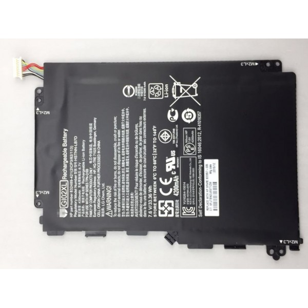 33.36Wh GI02XL Replacement Battery for HP Pavilion X2 12 HSTNN-LB7D 833657-005 832489-421