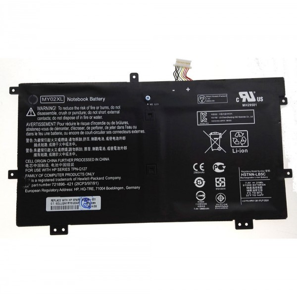 Replacement HP HSTNN-LB5C MY02021XL MY02XL 21WH Notebook Battery