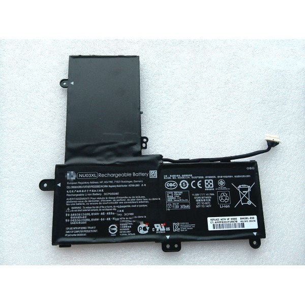 NU03XL Replacement Battery For HP Pavilion x360 11-u000 HSTNN-UB6V 41.7Wh