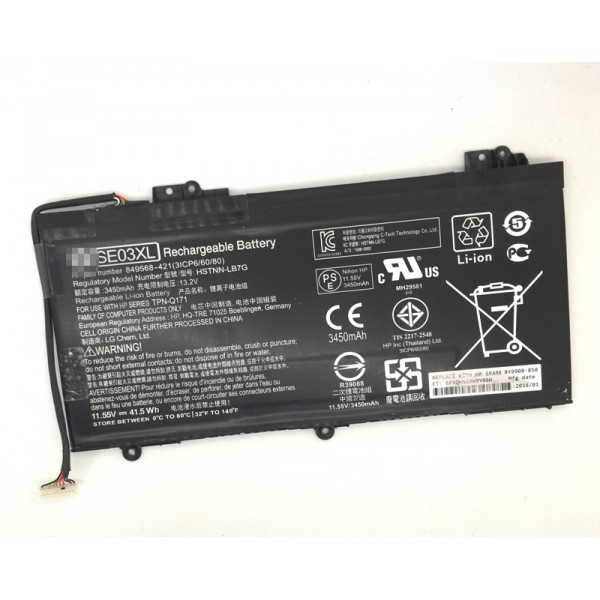 Battery for HP Pavilion Notebook PC 14 HSTNN-LB7G TPN-Q171 SE03XL 41.5Wh