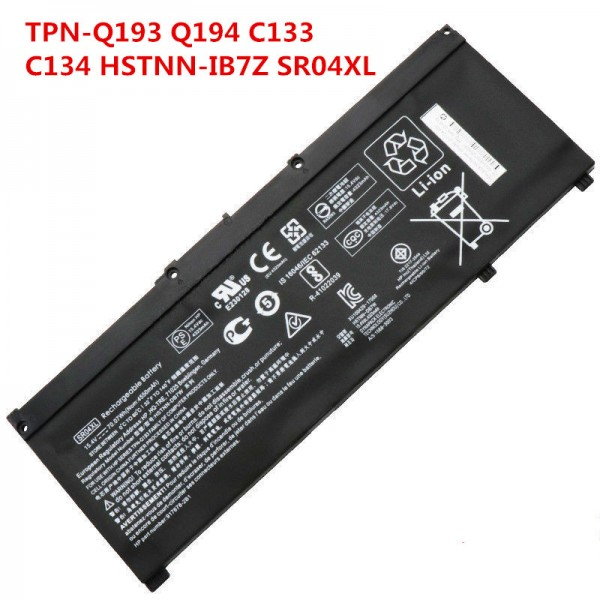 70.07Wh Replacement SR04XL Battery for HP Omen 15-ce000 15-ce000ng HSTNN-IB7Z 917724-855