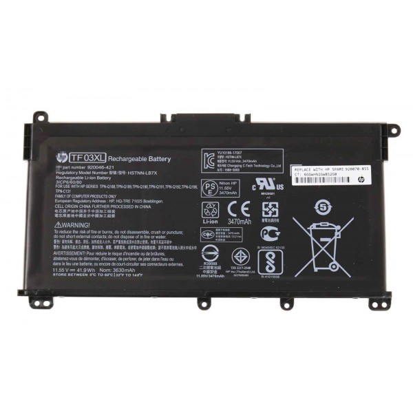 HP 15-CC 15-CD Series Tpn-c131 TF03XL HSTNN-LB7J HSTNN-LB7X Replacement Battery