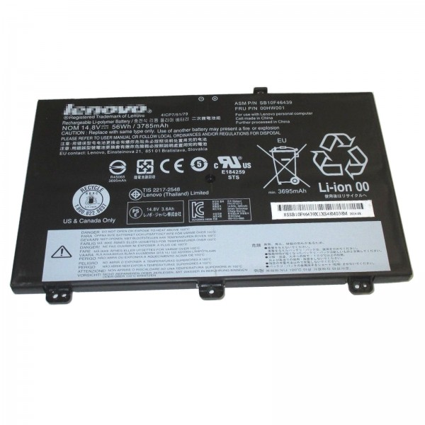 00HW001 SB10F46439 56Wh Replacement Battery for Lenovo ThinkPad S3 Yoga14