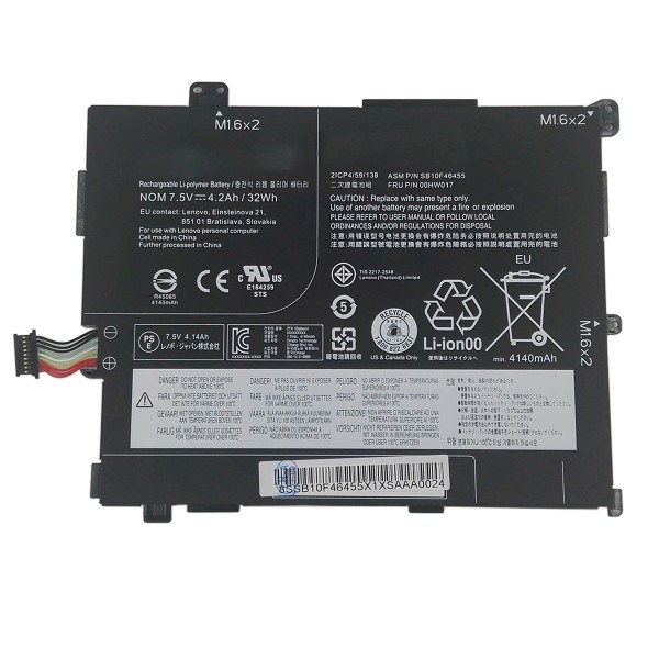 00HW016 00HW017 32Wh Replacement Battery for Lenovo ThinkPad 10 2nd 20E3 20E4 Generation