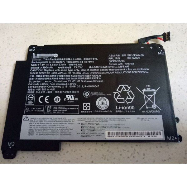 00HW020 00HW021Replacement Battery for Lenovo ThinkPad S3 Yoga 14  4540mAh 53Wh