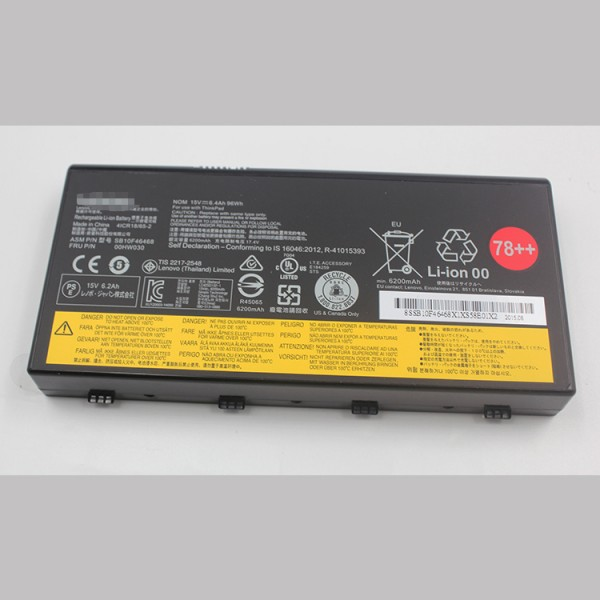 78++ 00HW030 SB10F46468 Replacement Battery fo Lenovo ThinkPad P70