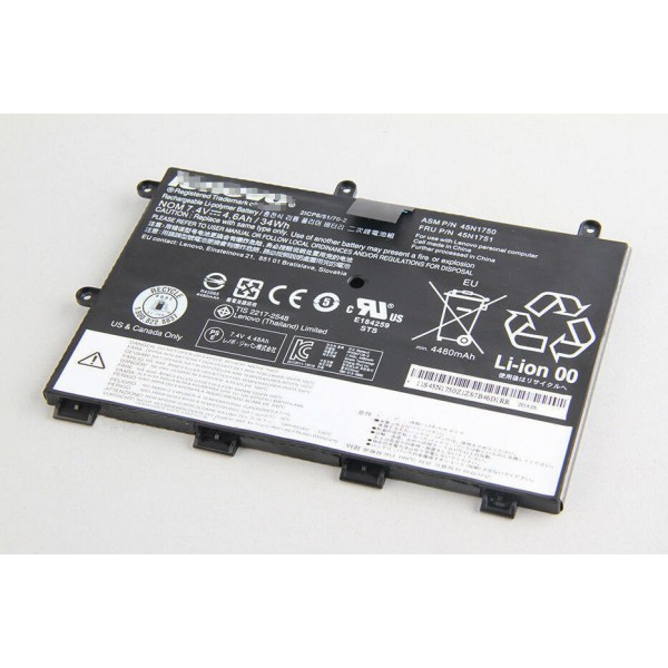 45N1750 45N175 7.4V 4.6Ah 34WH Replacement Battery for Lenovo ThinkPad Yoga 11e