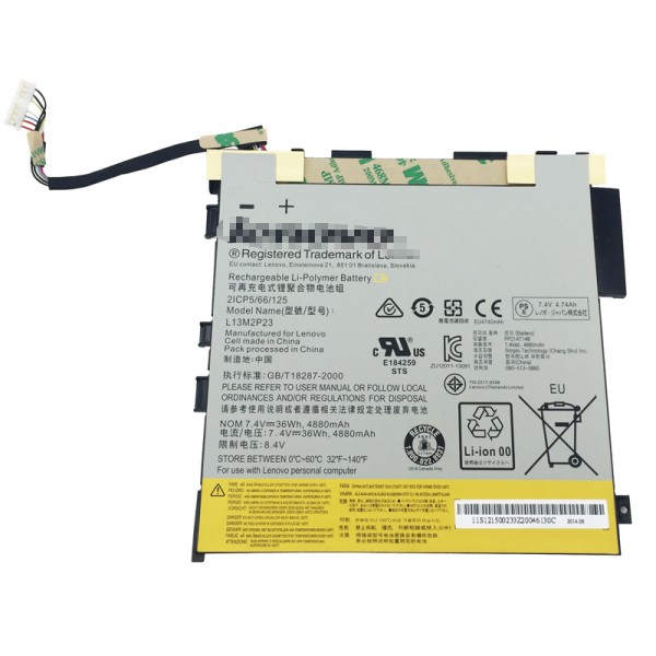 Replacement New LENOVO Miix 2 11 Inch L13M2P23 121500233, 2ICP5/66/125 Battery