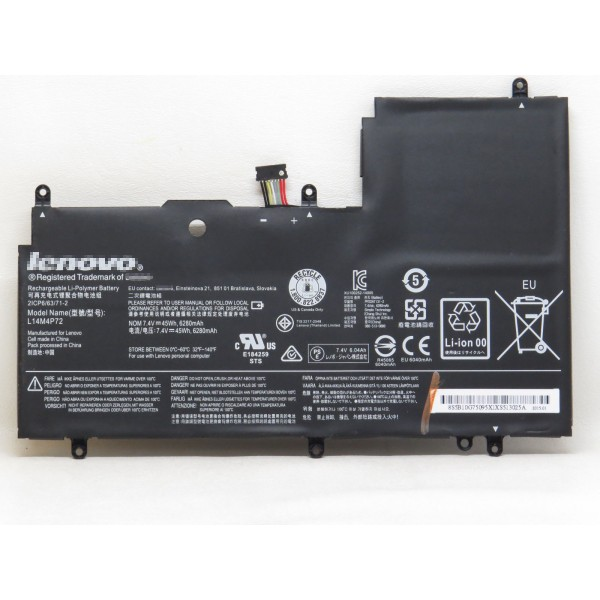 L14M4P72 L14S4P72 Replacement Battery For Lenovo Yoga3 14 Series Laptop 7.4V 45Wh 6280mAh