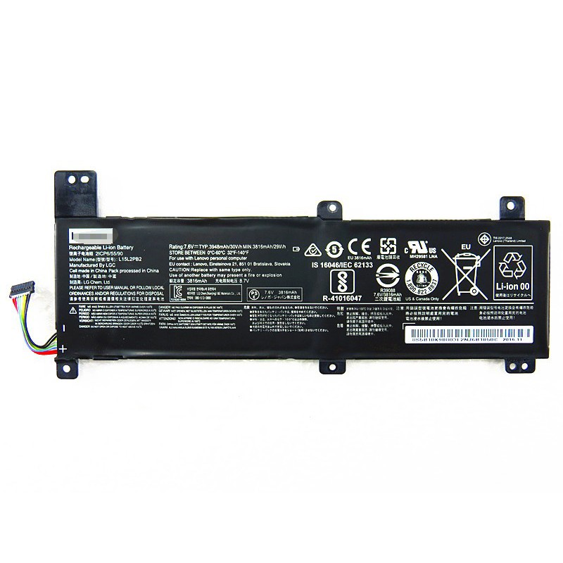Replacement L15C2PB4 7 6V 30Wh Battery for Lenovo IdeaPad 310-14ISK