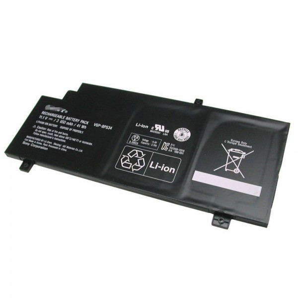 Replacement New VGP-BPS34 Replacement Battery Sony VAIO Fit 15 Touch SVF15A1ACXB SVF15A1ACXS